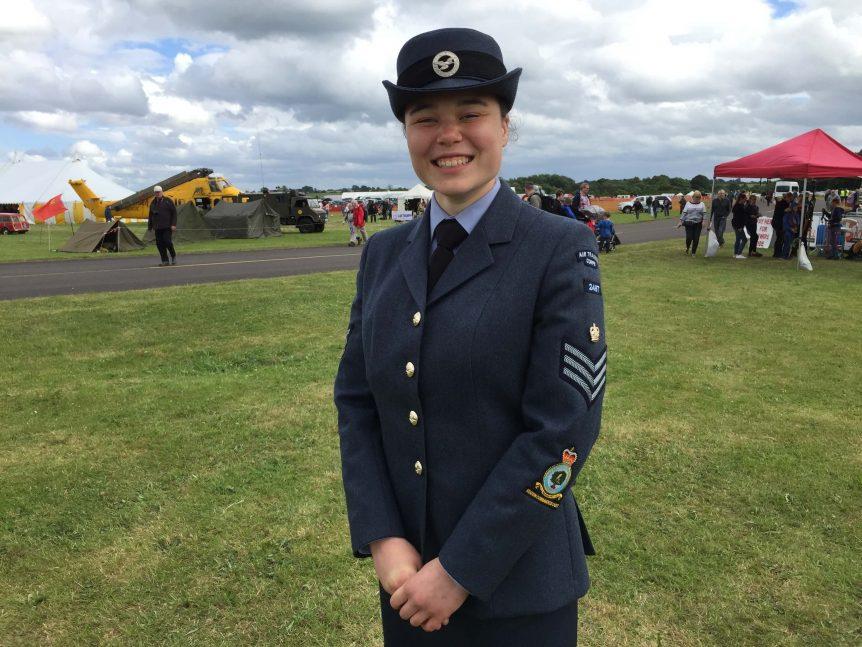 Cadet Flight Sergeant Claire Weetman RAF Cosford Air Show 2017