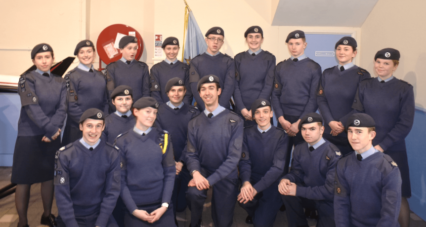 Parsonage and the Cadet NCO team