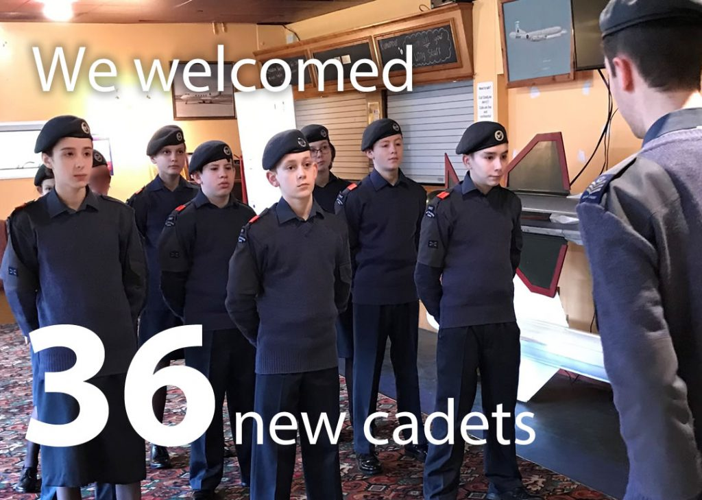 We welcome 36 new cadets during 2019.